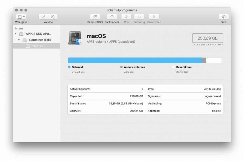 schijfhulpprogramma-mac-opschonen