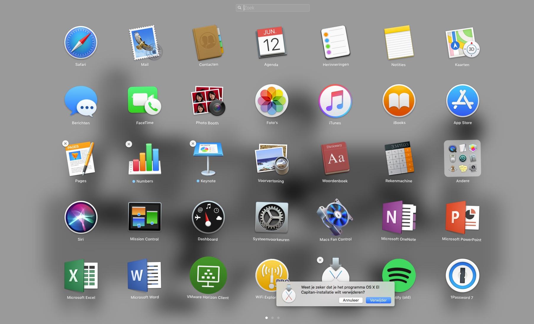 Programma verwijderen Mac