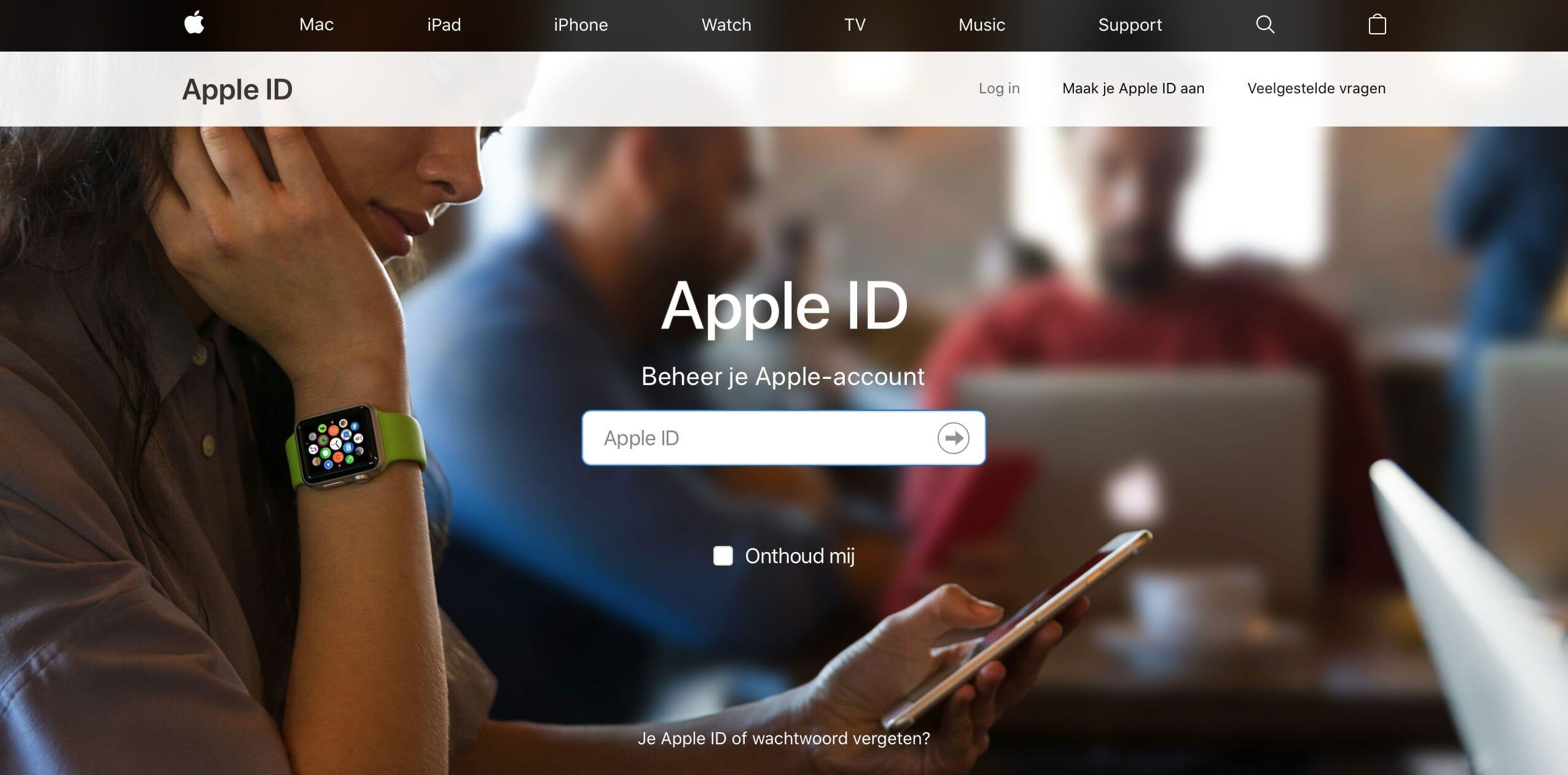 iCloud aanmaken